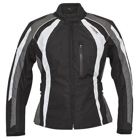 Roleff Racewear 9806 Blouson Moto Venise pour Femmes, Noir/Gris/Blanc, XXL