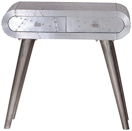 """Sit-Möbel 2056-21 mesa auxiliar """"centro de la ciudad"""", 80 x 38 x 76 cm, formación y aluminio, plata"""