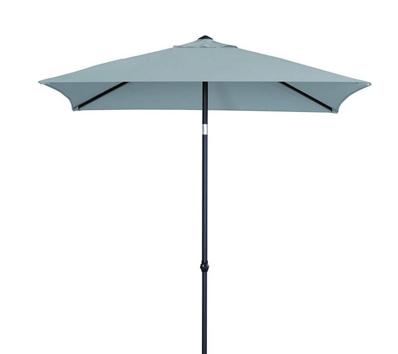 Madison Sonnenschirm Borneo 200 x 200 quadratisch Push up grau mit UV-Schutz 40 Plus