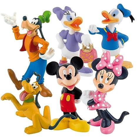 Bullyland - Disneys Dingo Donald Daisy Pluto Mickey Minnie Set 6 Figurine