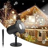Dr. Prepare DPL-0CL01 Snow Flakes Patterns, IP65 Waterproof Outdoor Indoor Landscape Garden Decoration Light for Christmas Birthday Halloween New Year, Snowfall Projector (Color: Snowfall Projector)