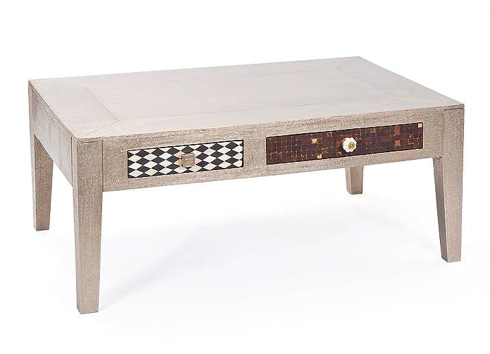 Links - Life 24 tavolino. Dim. 110x70x45h in metallo grigio