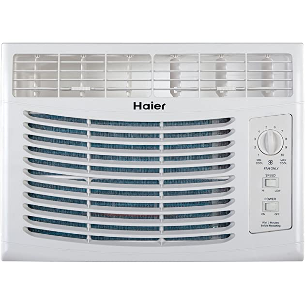 Haier hwf05xcl l 5 000 btu 115v window mounted air for 17 wide window air conditioner