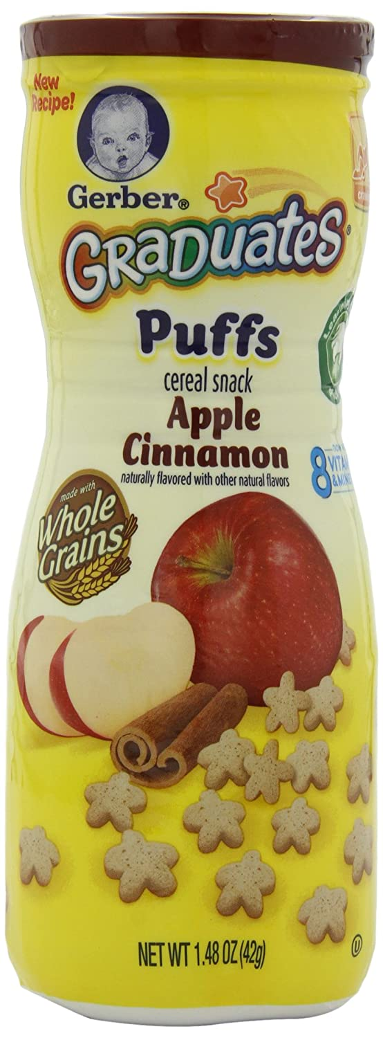 Gerber Graduates Puffs, Apple Cinnamon, 1.48-Ounce (pack of 6)