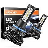 9006/HB4 LED Headlight Bulbs Conversion Kit Marsauto Low Beam/Fog light bulb 12x CREE Chips - 6000LM 6000K Xenon White (Pack of 2) (Tamaño: 9006/HB4)
