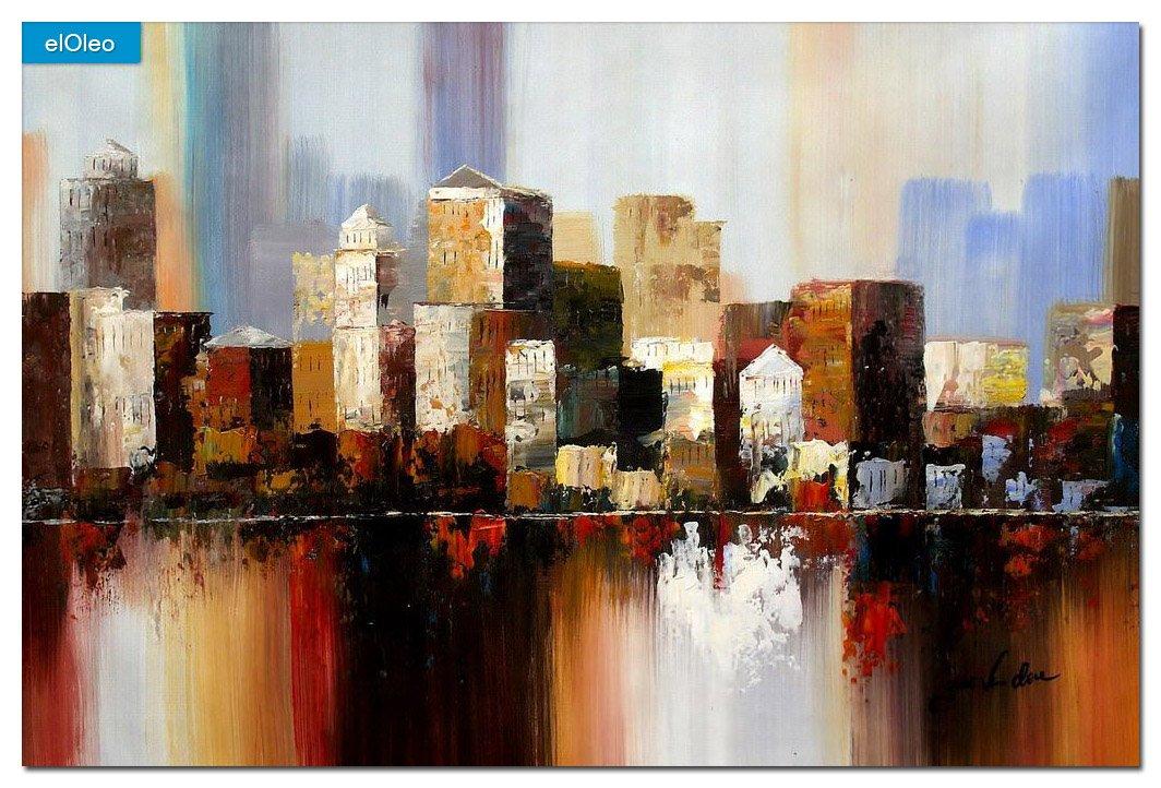 elOleo Abstrakt New York Manhattan Skyline im Herbst 60×90 Gemälde auf Leinwand handgemalt 83351A bestellen