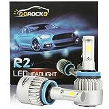 VoRock8 R2 COB H11 H8 H9 H16 8000LM LED Headlight Conversion Kit, Low Beam headlamp, Fog Driving Light, HID or Halogen Head Light Replacement, 6500K Xenon White, 1 Pair- 1 Year Warranty (Tamaño: H11/H8/H9/H16(JP))