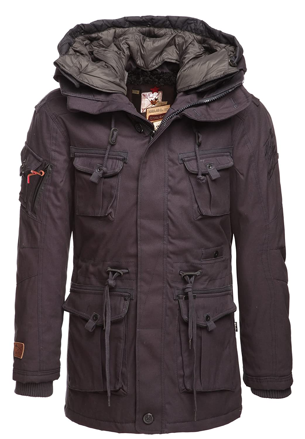 KHUJO Herren Winterjacke RHOMP WITH HOOD