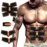 Havenfly [New Version 2017] Professional Abdominal Muscle Toning Belt Home Fitness Training Gear, Vibration Pads for Men and Women to Tone, Loss Weight, Trimmer, Slender, Shaper, Strong (machine&pad) (Color: machine&pad)