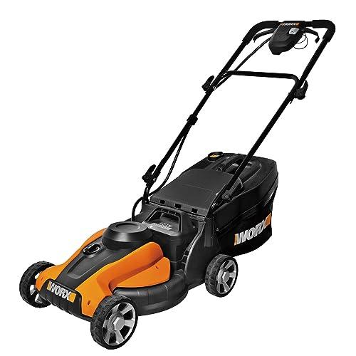 8. WORX WG782 14-Inch 24-Volt Cordless Lawn Mower with IntelliCut