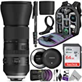 Tamron SP 150-600mm F/5-6.3 Di VC USD G2 Lens for Nikon DSLR Cameras w/Tamron Tap-in Console and Essential Photo and Travel Bundle (Tamron 6 Year Limited USA Warranty) (Tamaño: Nikon)