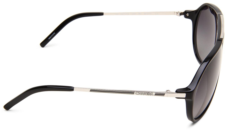 Carrera Hot/P/S Polarized Aviator Sunglasses,Black & Palladium Frame/Grey Shiny Polarized Lens,One Size