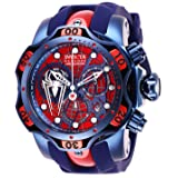 Invicta Men's 'Marvel' Quartz Stainless Steel and Silicone Watch, Color:Blue (Model: 27044)
