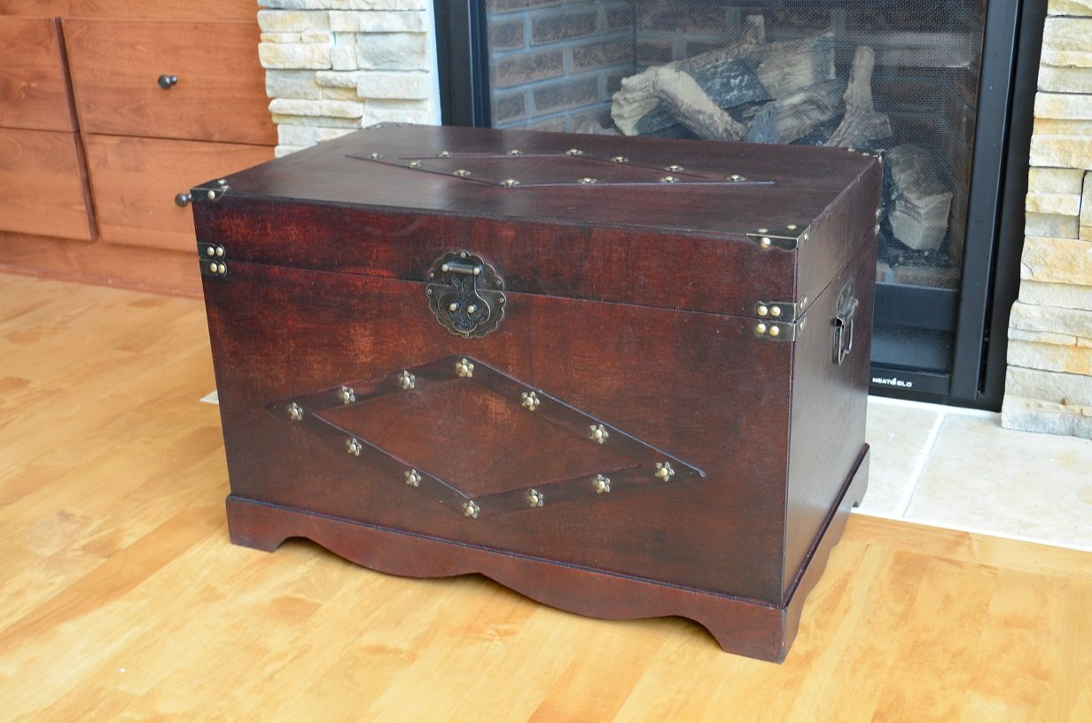 Jamestown Chest Wooden Steamer Trunk Large Trunk