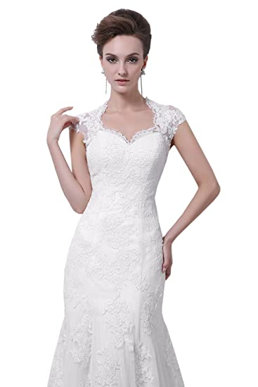 Dlass Elegant Straps Appliques Mermaid Wedding Dresses 2014 Bridal Gown