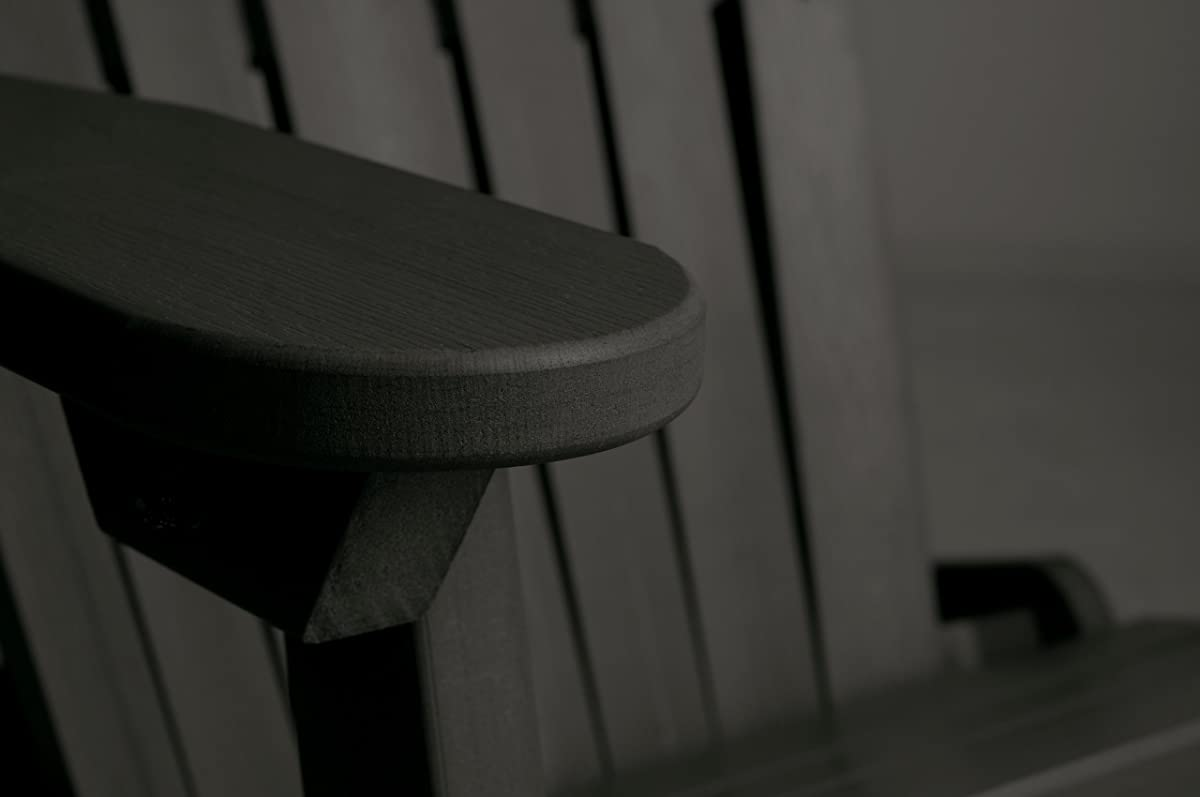 Highwood Hamilton Folding and Reclining Adirondack Chair, Adult Size, Black