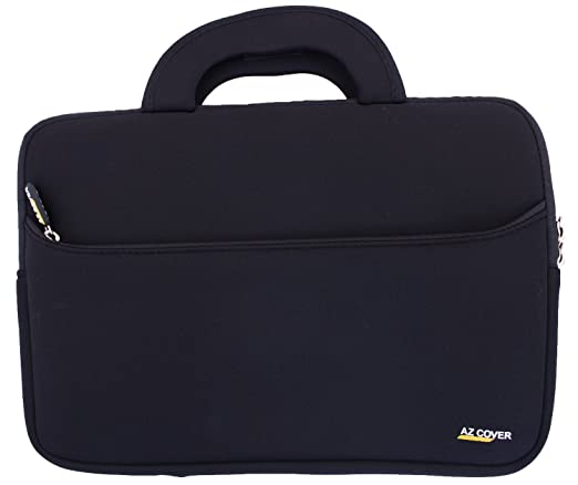 AZ-Cover 17-Inch Laptop Sleeve case Black with Handle for Toshiba Satellite L75-B7150/B7240/B7270 17.3-Inch Laptop