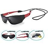 VATTER TR90 Unbreakable Polarized Sport Sunglasses For Kids Boys Girls Youth 816blackred
