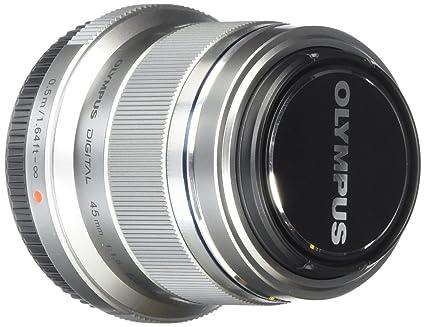 Olympus M. Zuiko Digital ED 45mm f1.8 (Silver) Lens for Olympus and Panasonic Micro 4/3 Cameras