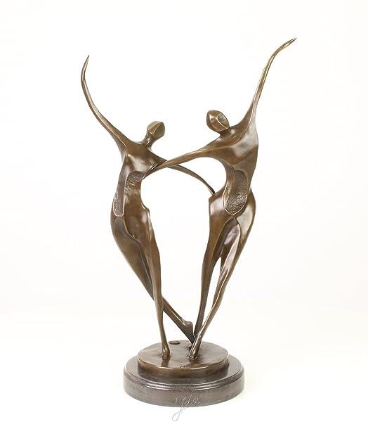 Scultura in bronzo figura coppia di ballo ballerini ballo