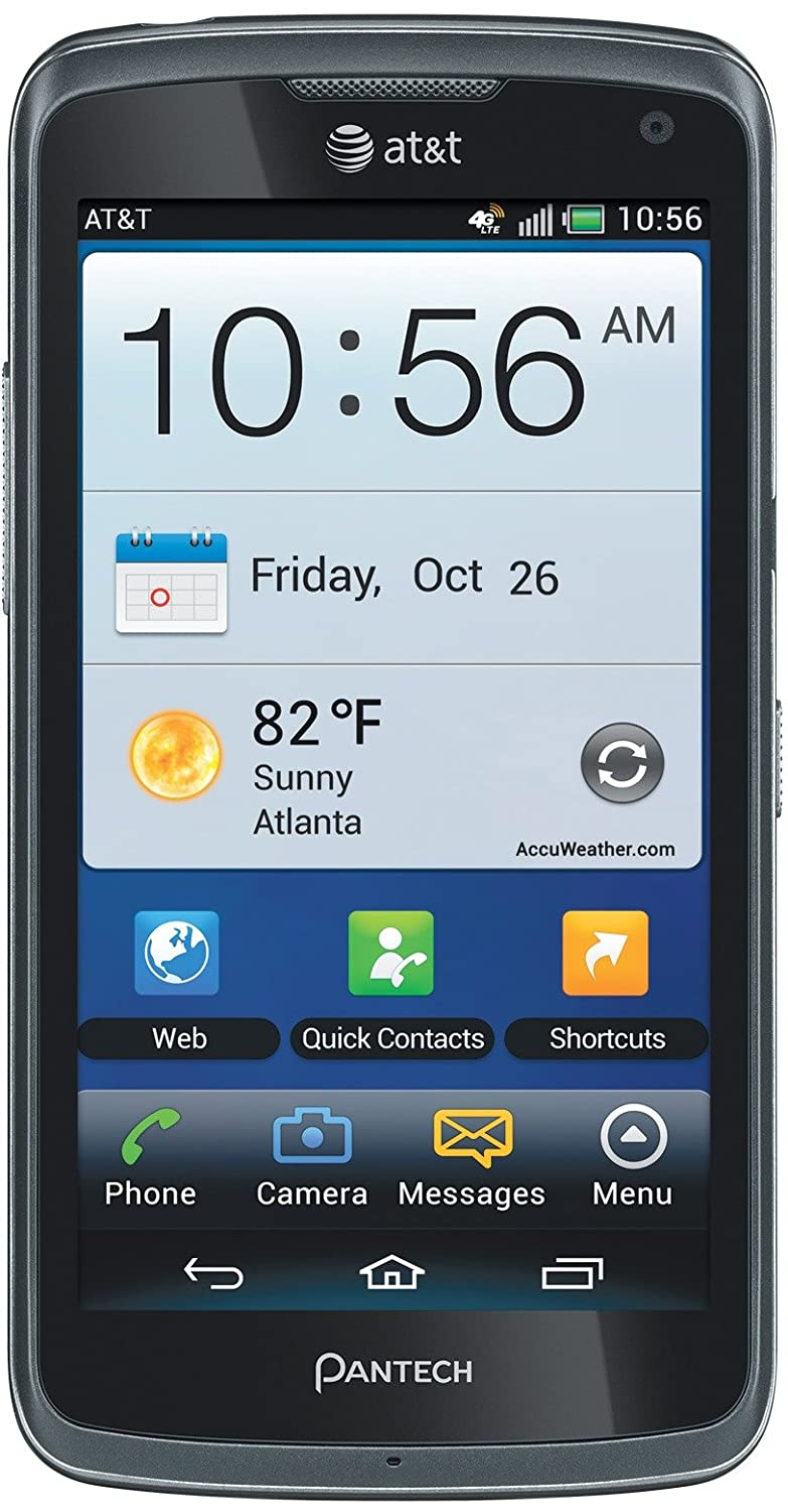 Pantech Flex 4G P8010 8GB Unlocked GSM 4G LTE Dual-Core Android Smartphone - Gray-Refurbished