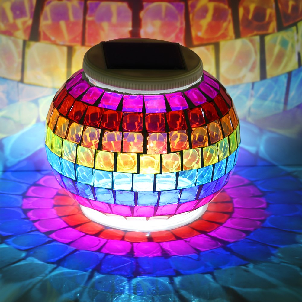 Mosaic Glass Table Light