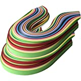 Lantee Quilling Paper Quilling Art 2080 Strips Set 3mm 5mm 7mm 10mm (15 inch, 26 Colors, 8 Sets) (Color: 26 Colors, Tamaño: 15 inches)