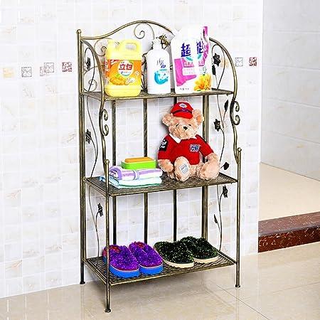 Scaffali di ferro battuto/decorativo scarpiera/Bagno rack angolo/rack di stoccaggio speciale/Soggiorno bagno mensola-B