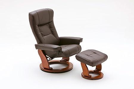 Relaxsessel, Fernsehsessel, TV Sessel, Funktionsessel, Hocker, Loungesessel, Lesesessel, Relaxliege, Echtleder, Leder, braun, honigfarben