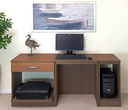 SET-10-IN-TK Teak Small Laptop Printer Table Childs Kids Computer Desk Home Office Furniture UK Ideas Bookcases Bookshelf For Living Rooms Cupboard In Bedroom With Doors Hutch