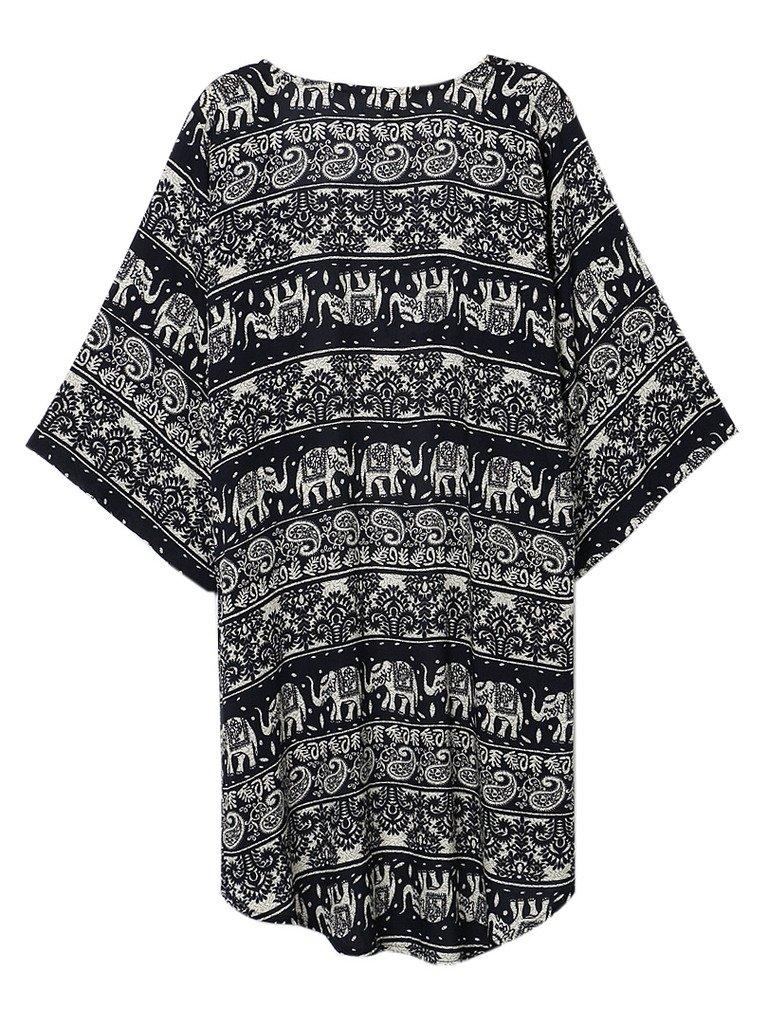 Persun Women Floral Chiffon Shawl Kimono Cover-up Jackets 1
