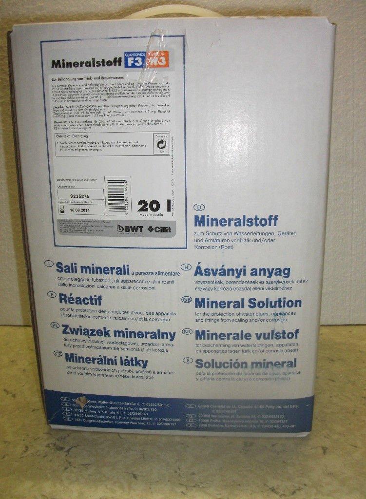 BWT Mineralstoff Cillit Quantophos/Impulsan 20 l Kanister F3/H3  BaumarktKundenberichte und weitere Informationen