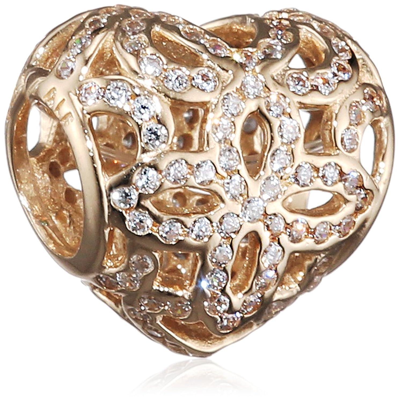 Pandora Damen-Bead Spitzen-Herz 585 Gelbgold Zirkonia transparent – 750837CZ kaufen