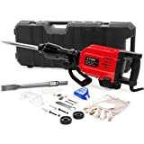 XtremepowerUS Industrial 35-Pound Demolition Jack Hammer Concrete Breaker Punch 55 Joules Carrying Case (Color: Red/Black)