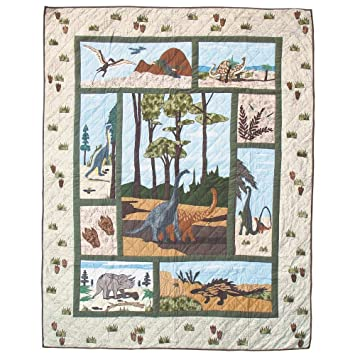 Patch Magic 105 by 95-Inch Dinosaur Quilt, King