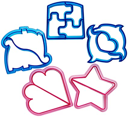 Dinosaur Dolphin Heart Puzzle Star Sandwich Cutter Shapes