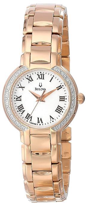 Bulova Women's 98R156 Classic Round Diamond Accented Watch-奢品汇 | 海淘手表 | 腕表资讯