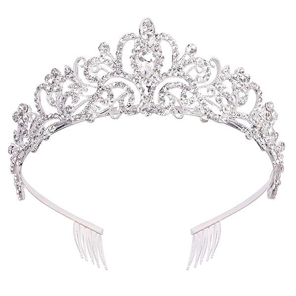 New Silver Color Happy Birthday Tiara Headband Girl/'s Headwear Birthday Party