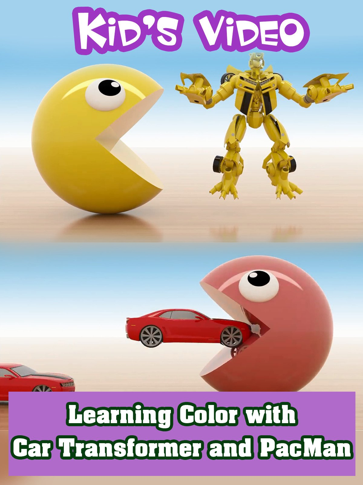 Learning Color with Car Transformer and PacMan on Amazon Prime Instant Video UK