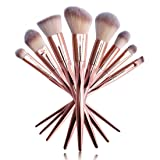 UCANBE Professional Makeup Brushes Rose Gold Makeup Foundation Blush Concelaer Contouring Eye Shadow Brush Kits (Color: rose golden)