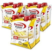4-Pack of 12-Count Premier Protein 30g Protein Shake (Bananas & Cream)