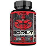 GORIL-T | Men's Testosterone Booster (60 Tablets) #1 Formula | All Natural | Increase T-Levels | Boost Energy, Strength, Metabolism | Promotes Healthy Weight Loss | Male Performance Supplement