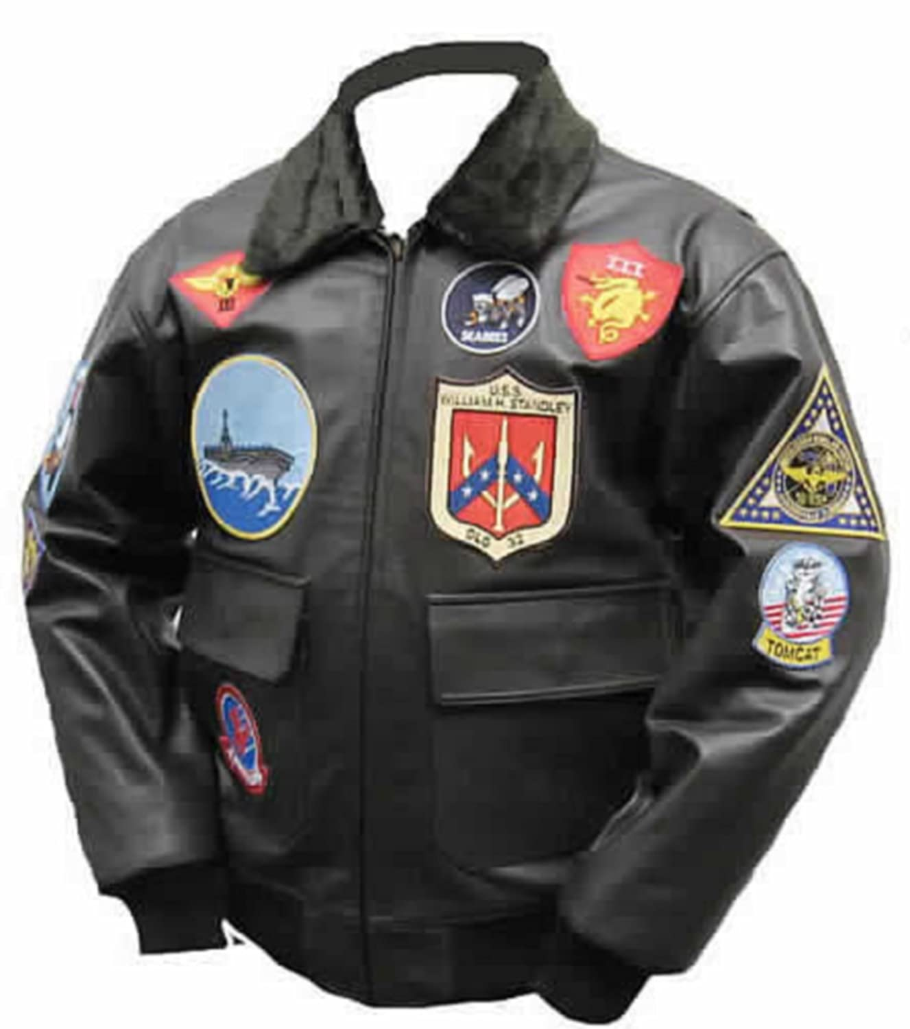 Top Gun Mavericks Fliegerjacke, Stierleder günstig