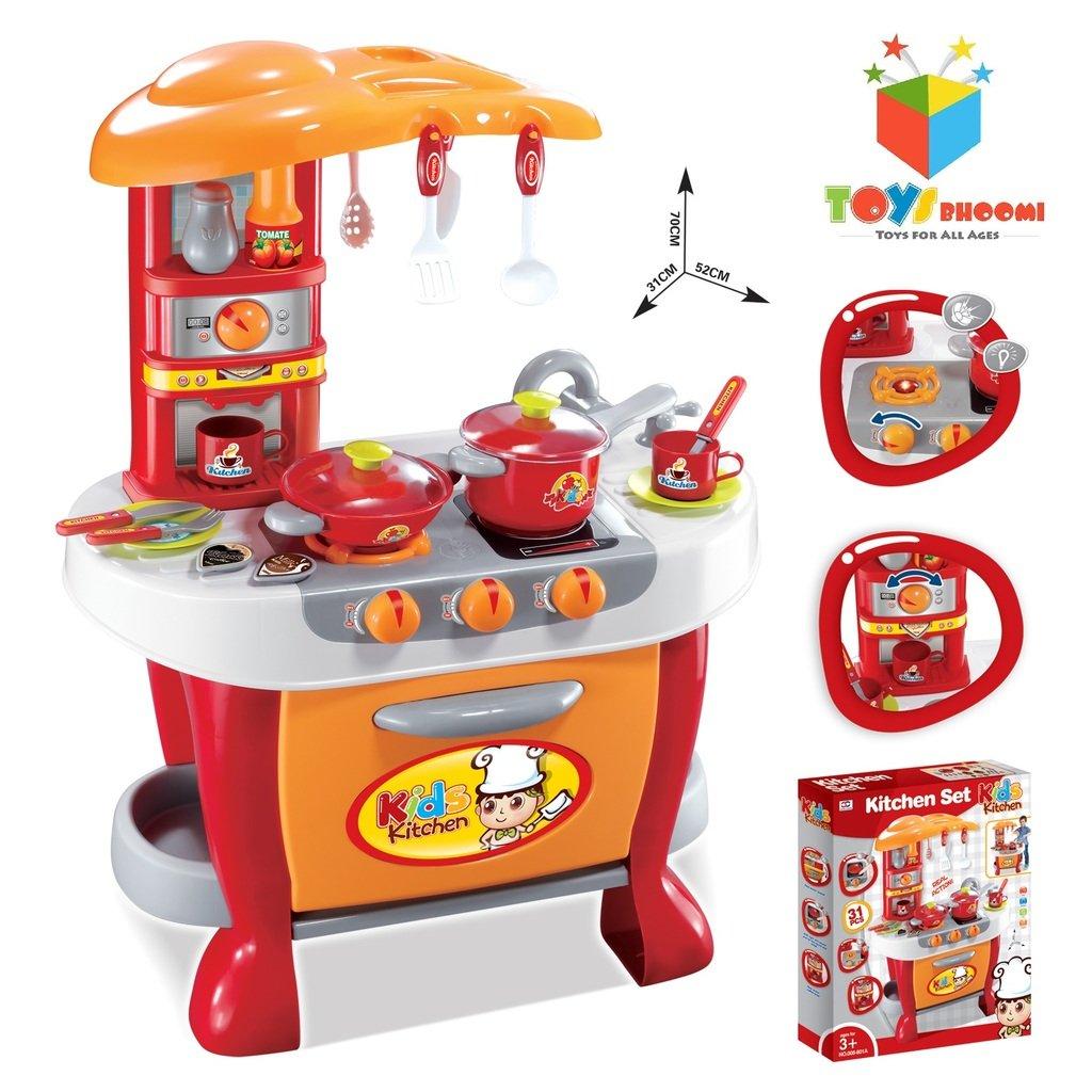 Toys bhoomi interactive little chef kids kitchen play set for Kitchen set deals