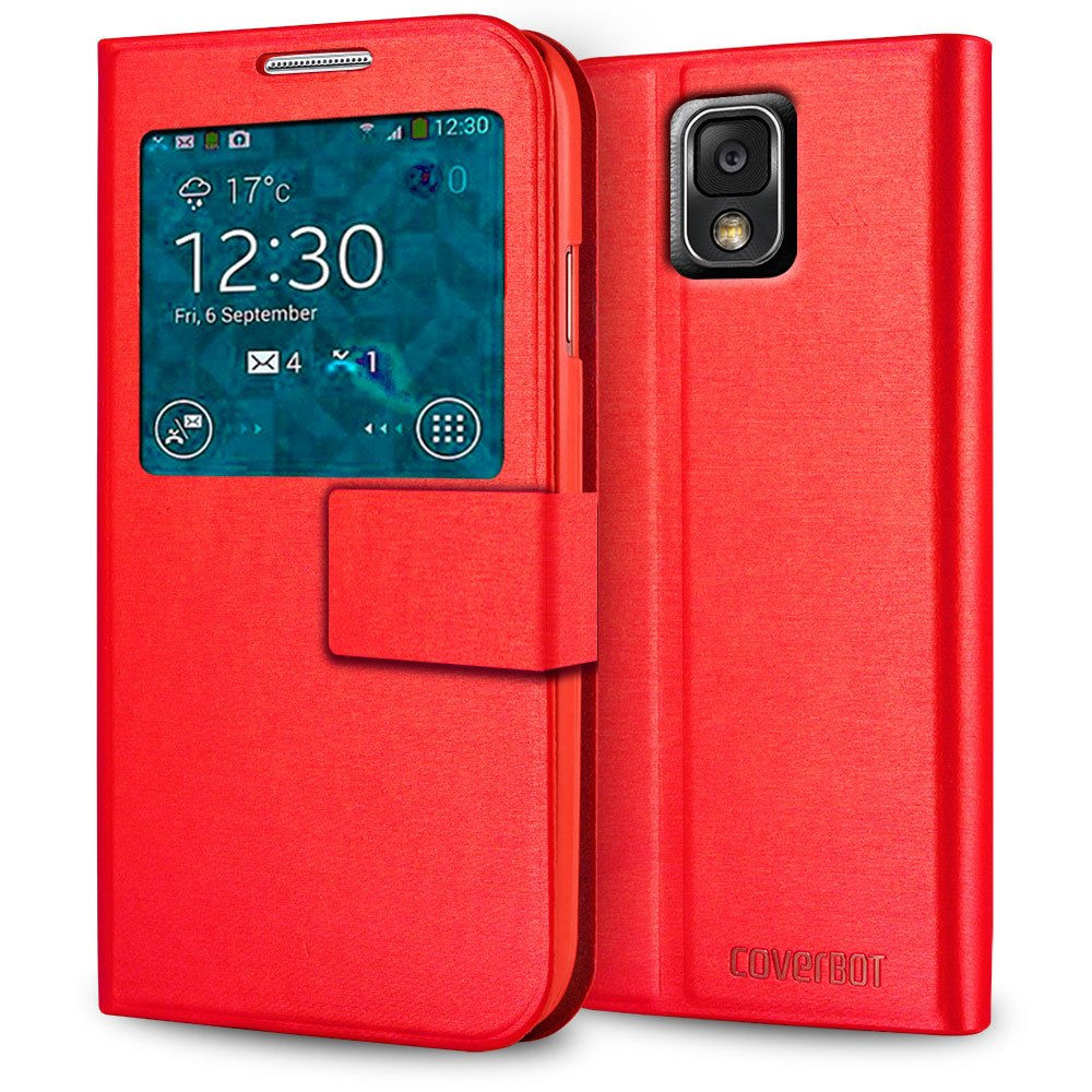 CoverBot Samsung Galaxy Note 3 S-View Flip Cover - Red