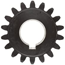 Martin Spur Gear, 20 Pressure Angle, High Carbon Steel, Inch, 12 Pitch