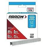 Arrow Fastener 505 Genuine T50 5/16-Inch Staples, 1,250-Pack (Color: Grey, Tamaño: 5/16 Inch)