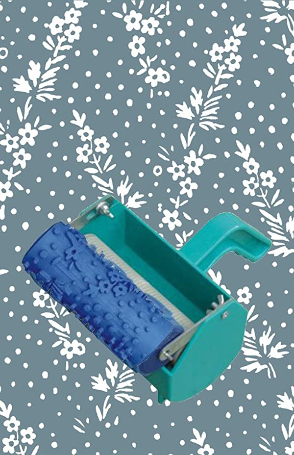 Greek Art 5 Patterned Paint Roller Decorative Roller with Single Color Decoration Painting Machine (Plants) (Color: Plants, Tamaño: 5 Inch)