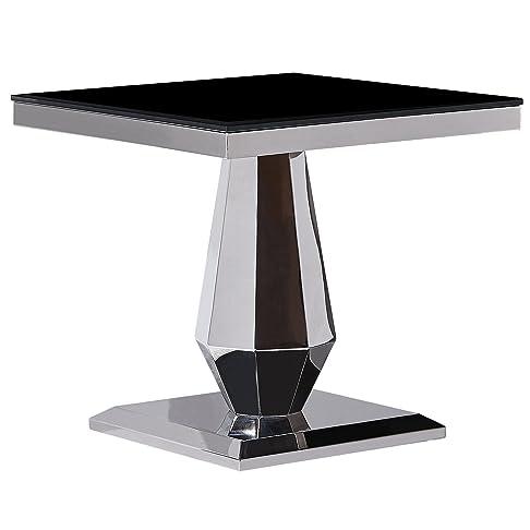Acciaio inossidabile Coffe tavolino tavolino moderno in vetro temperato con motivo nero