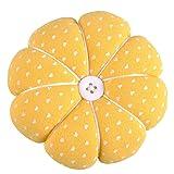 eZAKKA Pin Cushion Polka Pumpkin Wrist Pin Cushions Wearable Needle Pincushions (Polka Dots Yellow) (Color: Polka Dots Yellow)